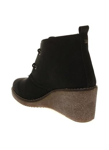 Cotton Bar Dolgu Topuklu Ayakkabı Siyah